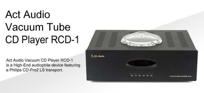 Act Audio Vacuum Tube CD Player RCD-1